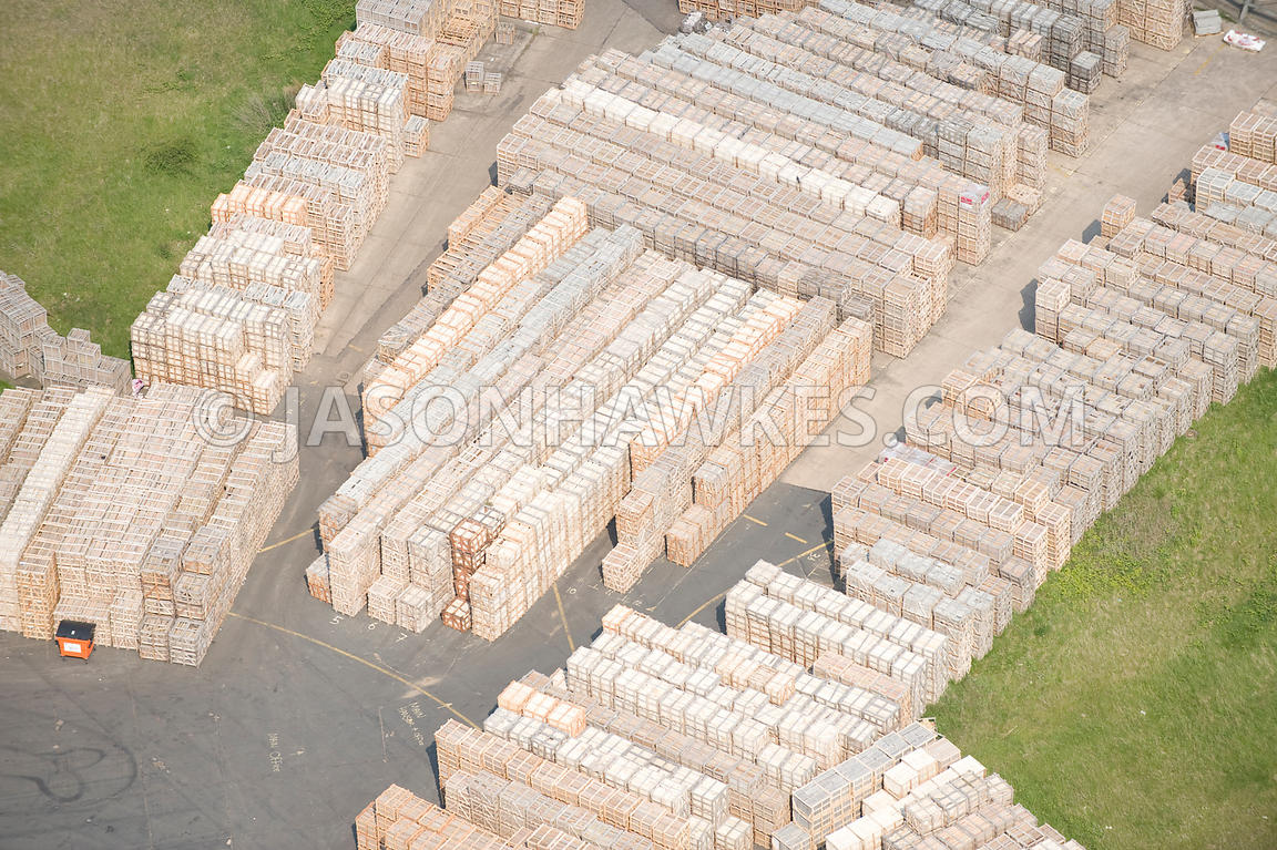Wooden Crates, Alconbury Airfield, Cambridgeshire