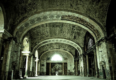 This is the old Michigan Central train station in Detroit.  It is illegal to go into the station these days, but we went anyw...