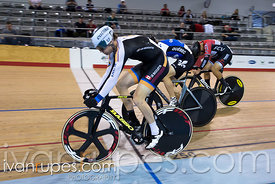 Men Keirin 1-6 Final. 2016/2017 Track O-Cup #3/Eastern Track Challenge, Mattamy National Cycling Centre, Milton, On, February 12, 2017