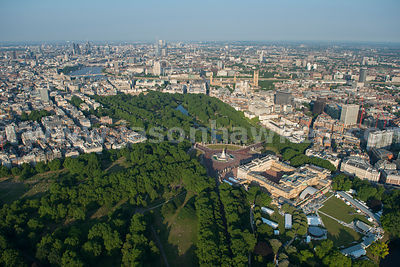 Aerial view of Buckingham Palace, London