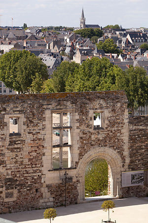 Photo du mur du chateau d angers