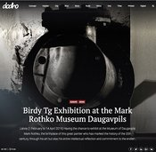 New Press article in DODHO MAGAZINE : Birdy Tg in Exhbition at the Mark Rothko Museum - Daugavpils - Latvia