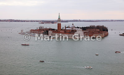 The Island of San Giorgio Maggiore  from the north-west, Venice, Italy