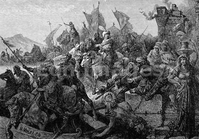 Muslims cross Hellespont