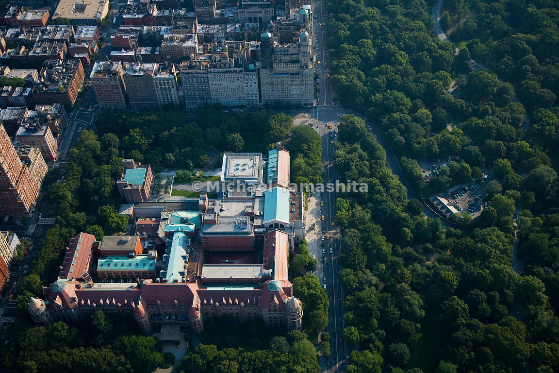 An aerial view of the American Museum of Natural History.  Manhattan, New York City.