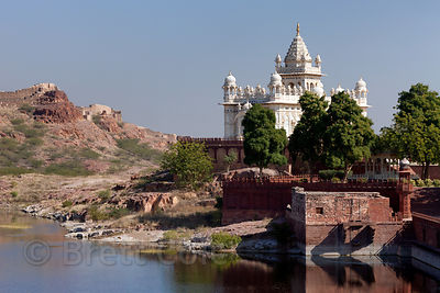 The beautiful Jaswant Thada memorial, Jodhpur, Rajasthan, India