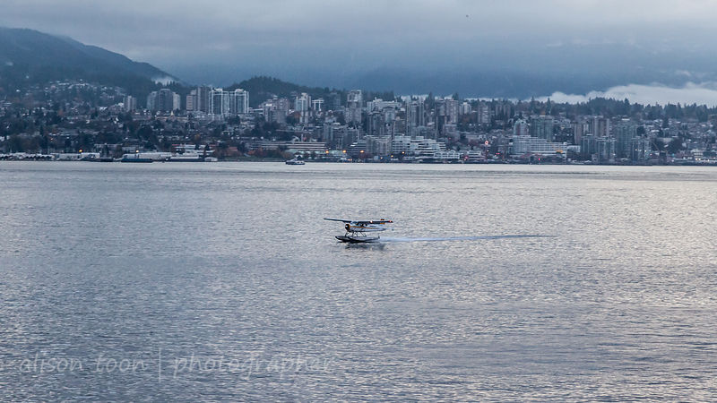 Seaplane landing on Vancouver Harbour