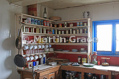 Original food store in British Antarctic Survey Base Y (1955-60, 1969), Horeshoe Island, Marguerite Bay, West Graham Land, An...
