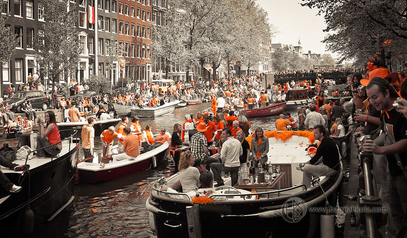 Netherlands - Amsterdam (Queen's Day - Boats I)