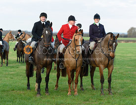 Michael Dungworth, Kate Willett at Hose Thorns. The Belvoir Hunt at Highfield Farm 12/12