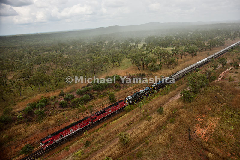 The Ghan, Australia's most famous train, 80 years operating between Adelaide and Darwin cutting the country in half. Takes 3 ...