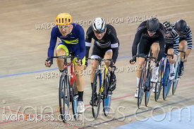 Elite/Master A Men Points Race. Ontario Track Championships, March 1, 2019