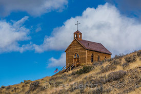 Old Wooden Church in Manhattan, Nevada
