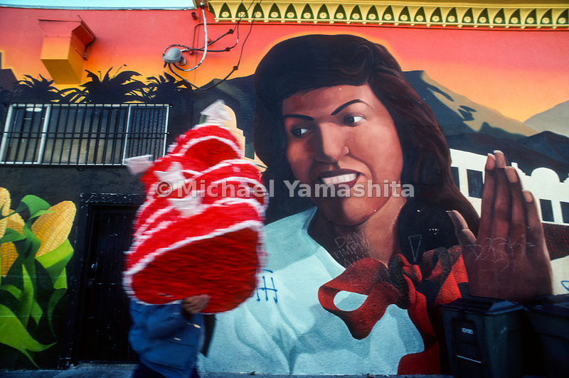 Wall Mural, Mission District.San Francisco, California