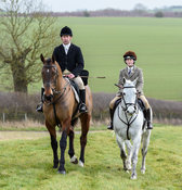 Jim Culloty at the meet. The Cottesmore Hunt at Newbold Farm 16/2