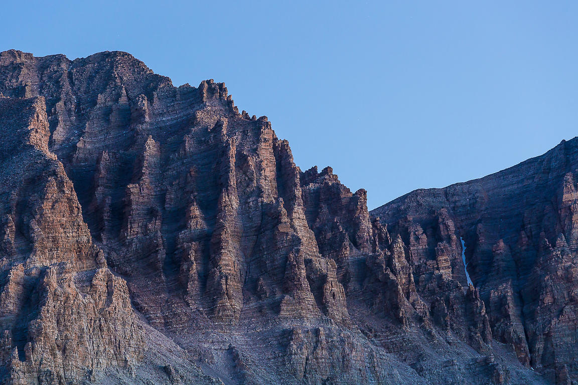 Cliff Face of Jeff Davis Peak in Great Basin National Park