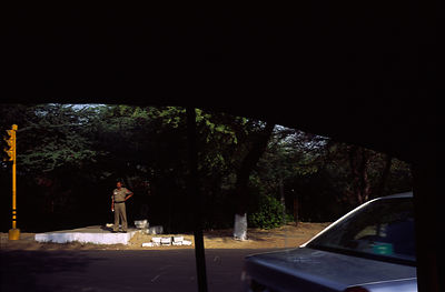 India - Delhi - A Traffic Policeman near the Ridge