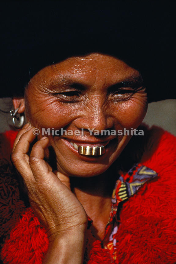 Yao women in Yunnan still proudly sport gold-sheathed teeth, just as Marco Polo described in the 13th century.  Yunnan, China