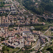 Cava de' Tirreni aerial photos