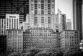 Chicago Drake Hotel in Black and White