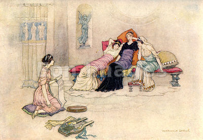 Criseyde and her Maidens by Warwick Goble