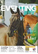 Classic Moet on the front cover of British Eventing Life