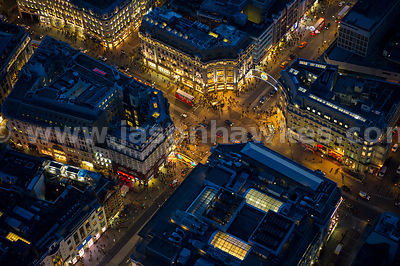 London. Aerial view of Oxford Circus
