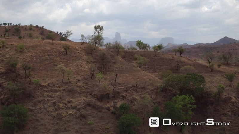 Drone Video Ethiopia Mountain Region