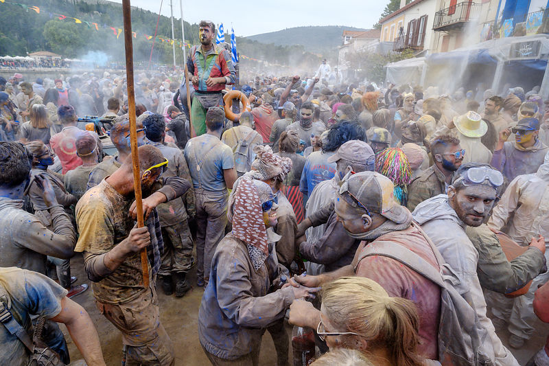 "the ""flour war "" at gakaxidi, greece"