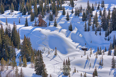 Ski Tracks next to Colorado Girl Mine Near Red Mountain Pass