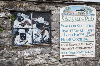 Restaurant sign in Kilfenora, Ireland
