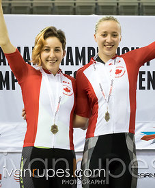 Junior Women Team Sprint Podium. Canadian Track Championships (U17/Junior), April 1, 2016