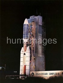 Voyager 2 was launched August 20, 1977 aboard a Titan-Centaur rocket.