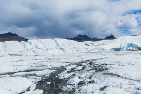 Chaotic Jumble of Ice and Crevasses on Matanuska Glacier
