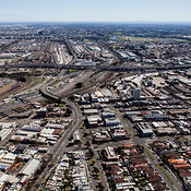Aerial view of West Melbourne taken from the north Western corner of the Melbourne CBD.
