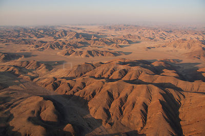 Aerial view of  Hoanib River, Namibia, September 2011.