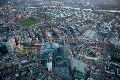 Aerial view of Victoria regeneration site, London