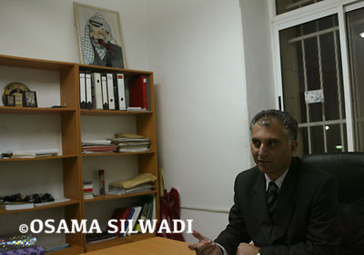 Secretary General of Palestinian People's Party Bassam As-salhi at his office