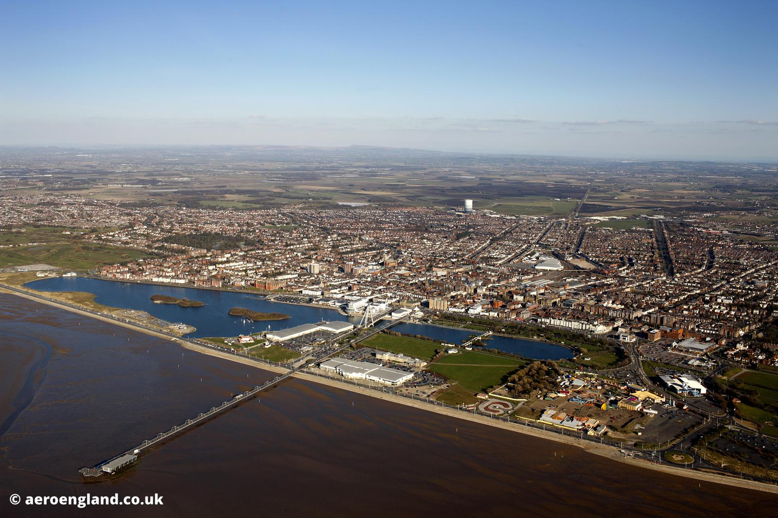 aerial photograph of  Southport  Merseyside UK
