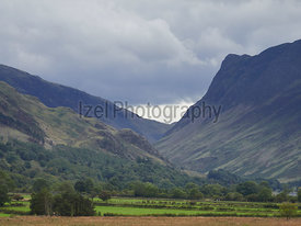 Clouds building over Honister Pass and Fleetwith Pike in the English Lake District, UK.