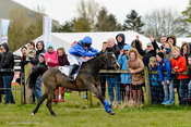 Elliot Stockwell winning on Ninfield Millionaires'Splendour at Balcormo Point-to-Point on 23 Apr 2016.