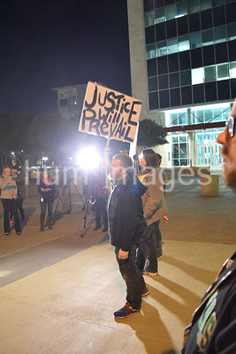 Protest outside Dallas police HQ after fifteen attacks, robberies against LGBT community, Dallas, USA (Brian Humek November 2...