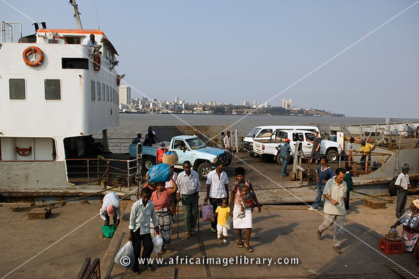 the Catembe Ferry crosses the 1km stretch of water from Maputo to Catembe every two hours, Maputo, Mozambique