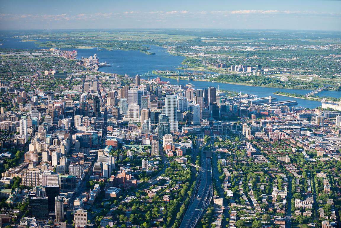 Aerial Photo | Montreal City Skyline 2014