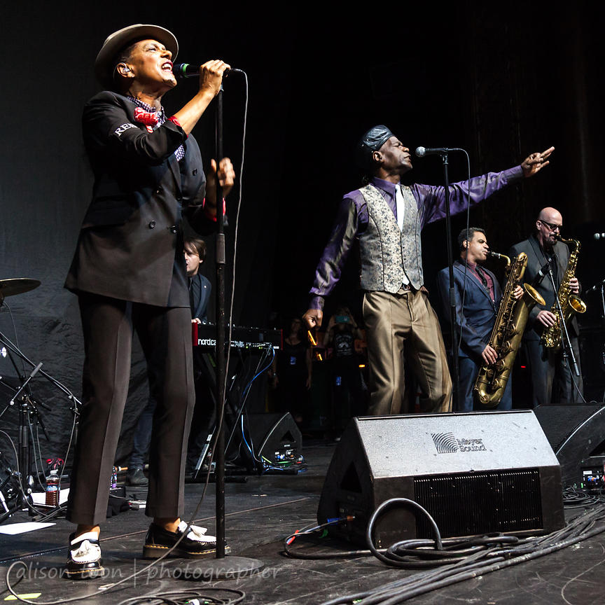 "Pauline Black and Arthur ""Gaps""  Hendircksen, vocals, The Selecter"