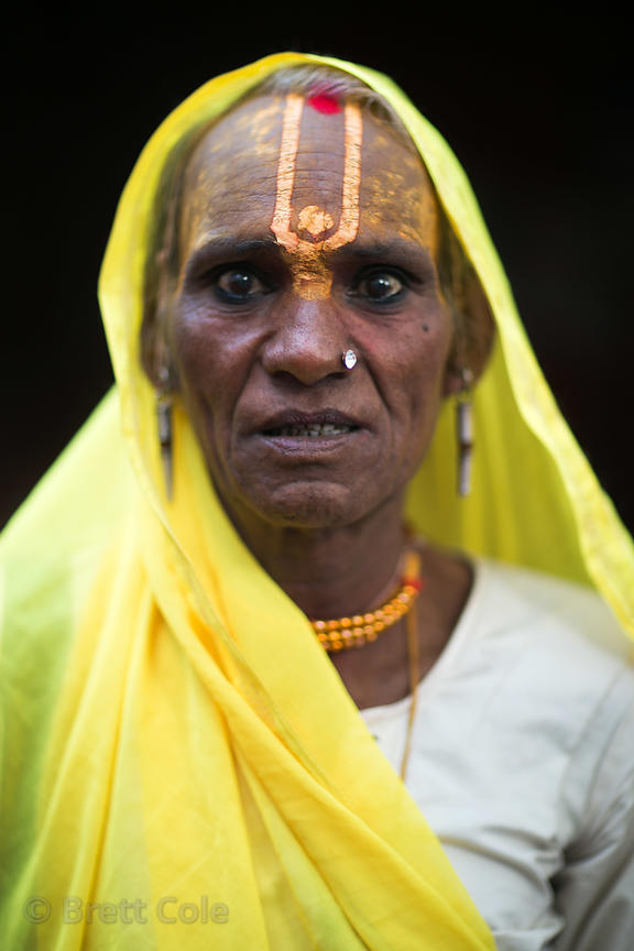 Transvestite Hindu devotee in Pushkar, Rajasthan, India