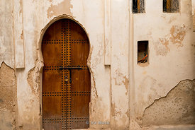 A door on the streets of the Medina in Fes, Morocco.
