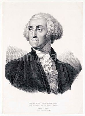General George Washington (head and shoulders) portrait