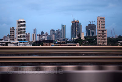 Central Mumbai skyline the Bandra-Worli Sealink bridge, Mumbai, India.