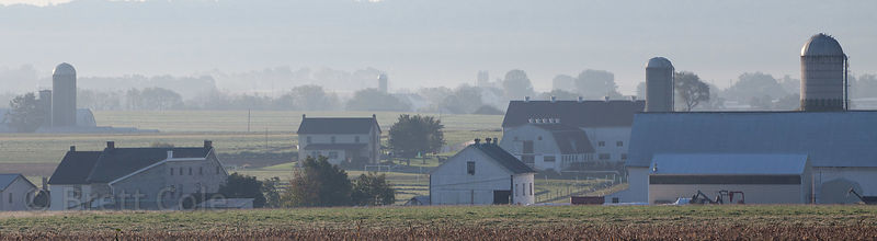 Panorama of epic farms, Amish country, Lancaster, Pennsylvania